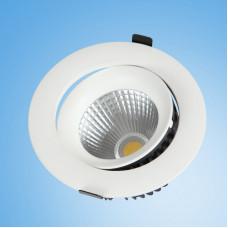 Светильник встраиваемый 006-R-7W-WH-4000K-Тр, круглый,LED