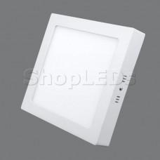 702SQ-18W-6000K Светильник накладной,квадратный,LED,18W