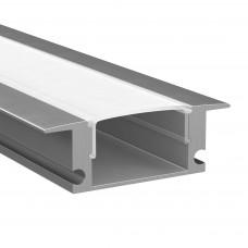 409529 Профиль PROFILED с прямоугольн. рассеив-м д/светодиод. лент, материал: алюминий,1шт=2м